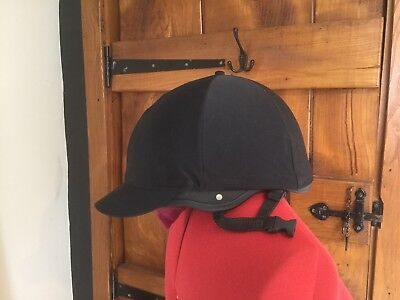 Champion Skull cap horse riding hat With Silk Size 3 1/2