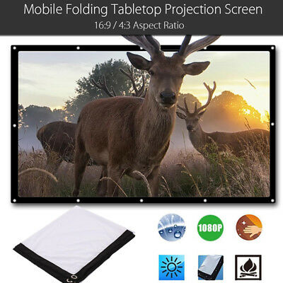 Portable Projection Curtain Projector Screen Polyester 16:9 Soft Accessories