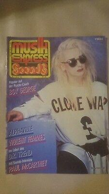 Musik Express Sounds Zeitschrift 1985 Nr. 1 (Boy George, Paul McCartney)