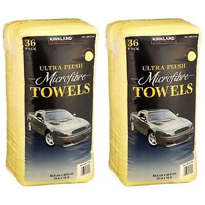 72 x Kirkland Signature 40cm Ultra Plush Microfibre Towels Soft Cloth Pack of 72