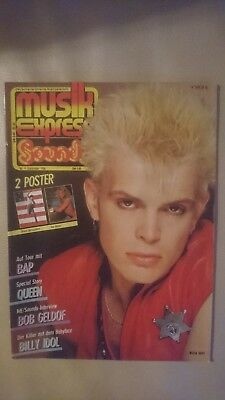 Musik Express Sounds Zeitschrift 1984 Nr. 9 (Queen, Bob Geldof, Billy Idol)