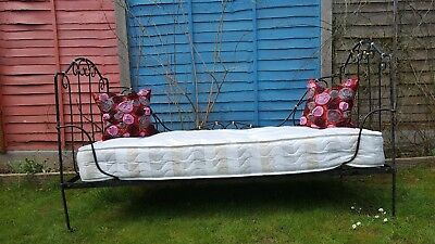 Antique cast iron folding French daybed