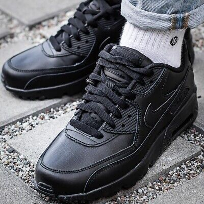 on sale 3db9a 77f93 NIKE AIR MAX 90 LTR GS 833412-001 chaussures femmes sport basket noir  sneakers