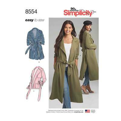 Womens Petite Coats and Jackets   Simplicity Sewing Pattern 8554