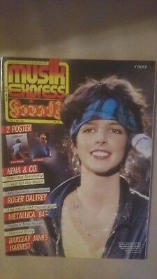Musik Express Sounds mit Poster 1984 Nr. 5 (Nena, Van Halen, Metallica, Yello)