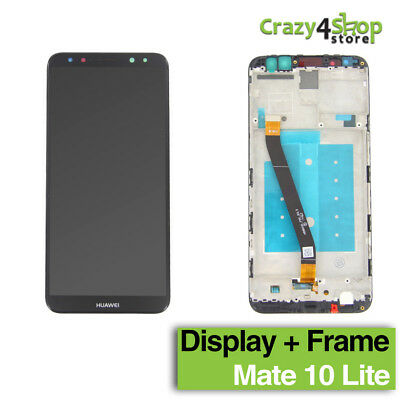 Display Lcd + Schermo Touch Screen +Frame Huawei Mate 10 Lite Black Nero Rne-L21