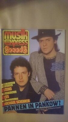 Musik Express Sounds Musikzeitschrift 1984 Nr. 3 (Sting, Kim Wilde, Yes)