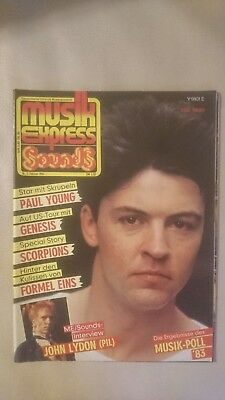 Musik Express Sounds Zeitschrift 1984 Nr. 2 (Paul Young, Genesis, Scorpions)