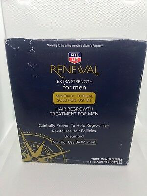 Rite Aid Hair Regrowth Treatment Renewal For Men 5% 3Months Supply exp 04/16