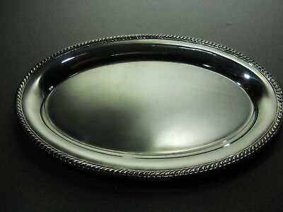 WATSON CO. - Gadroon Edge Sterling Silver Tray - Perfect for Cream & Sugar K274