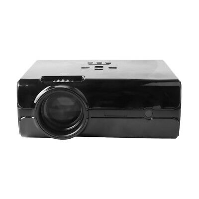 US Plug Mini Projector LCD/LED Imaging for Home Theater Big Screen HDMI