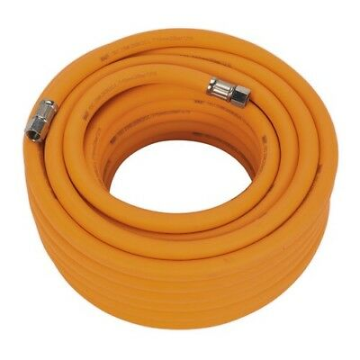 """Sealey AHHC1538 Air Hose 15 Metre x 10mm Hybrid High Visibility with 1/4""""BSP"""