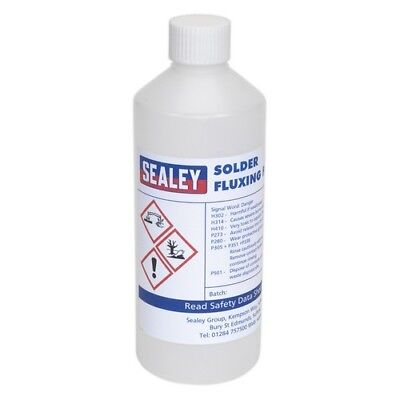 Sealey SOLFLUX Solder Fluxing Fluid 500ml Bottle