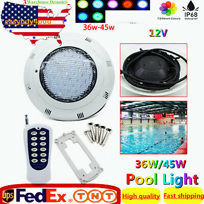12V 35W/45W Pool Light Underwater Color-change LED Lights RGB IP68 with Remote