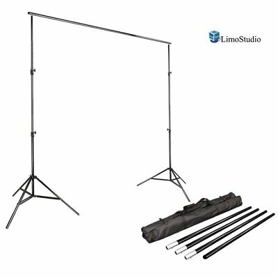 Step & Repeat 10ft Telescopic Trade Show Backdrop Banner Stand Adjustable w/ Bag