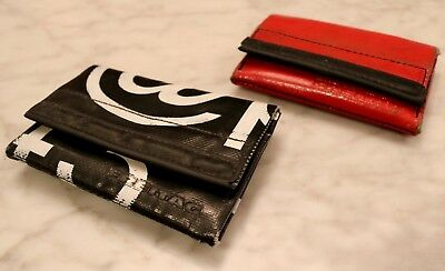 FREITAG: Two Gently-Used Black and Red Freitag F50 E.T. Wallets