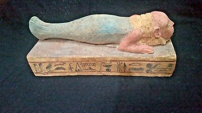 Very rare statue for fish man head for Happiness and flooding in ancient Egypt