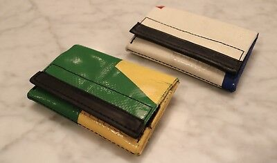 FREITAG: Two NEW Green and White Freitag F50 E.T. Wallets