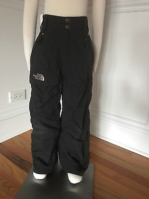 The North Face Snow Pants XS 6 Black Insulated Snow Board HyVent Ski Boy Girl