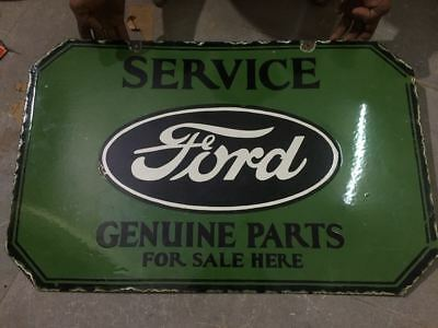 Porcelain ''Rare Ford Double Sided'' sign Dimensions -18' 'X 28'' with flange