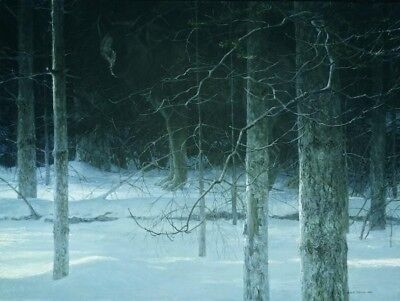 Robert Bateman Midnight Black Wolf Limited Edition signed print