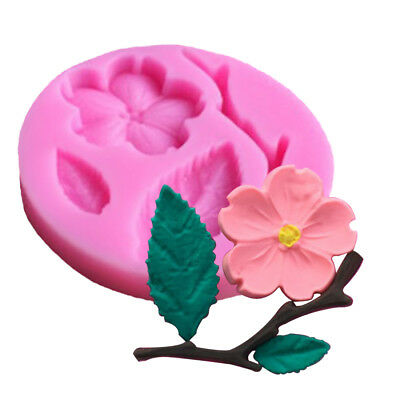 Small Flower / Leaves Reusable Silicon / Soap / Fondant Icing / Chocolate Mould