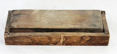 Antique/Early Vintage Sharpening Whetstone in a Solid Wood Coffin Case
