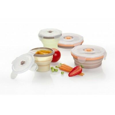 Silicone containers (2 x 400ml & 2 x 240ml)