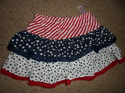 Girls Red White and Blue Skirt Size 3T