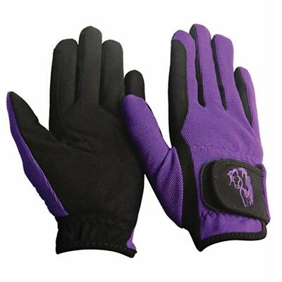 (X-Large, Purple) - TuffRider Children's Performance Gloves. Delivery is Free