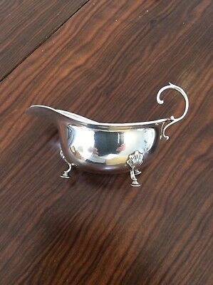 Aspreys Solid Silver Georgian Style Sauce / Gravy Boat London 1914