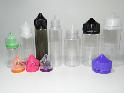 10ml 30ml 60ml 100ml 120ml Pen Shaped Double ChildProof PET Fat Dropper Bottles