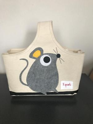 3 Sprouts Storage Caddy Canvas Gray Mouse