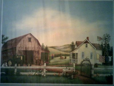 2001 John Deere, Coca-Cola & Old Barn SCAFA Art NEW LITHO Breezy Meadow Farm
