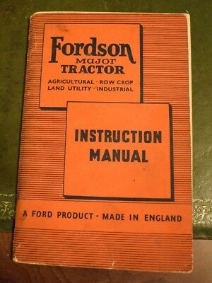 Fordson Major Tractor Instruction Manual Agricultual Row Crop Land Utility Ford