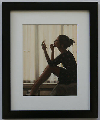 Jack Vettriano - Only Deepest Red - Framed & Mounted Print Thin Black FREE P+P