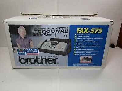 Brother FAX-575 Personal Plain Paper Fax Phone & Copier OPEN BOX Never Used (719