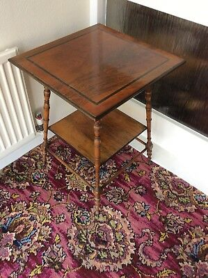 Superb ,vintage ,old Occasional / Side Table , Mahogany, Nice Fine Turned Legs