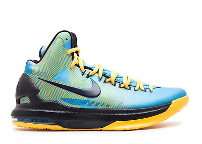 outlet store a133e 46101 Sale Nike Zoom Kd V 5 N7 Dark Turquoise Black Yellow Sz 12.5 New Durant