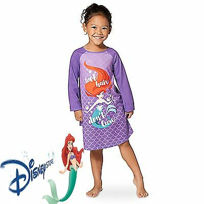 9d41af549c Disney Store Little Mermaid Ariel Princess NightGown Pajamas 7 8 Nightshirt  Pjs