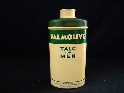 Vintage PALMOLIVE TALC FOR MEN Full Of Talc Made In USA KEEP THAT WELL GROOMED L