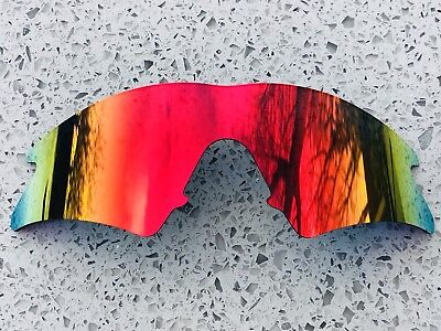 New Fire Ruby Red Mirror Replacement Oakley M Frame Sweep Lens & Carry Pouch