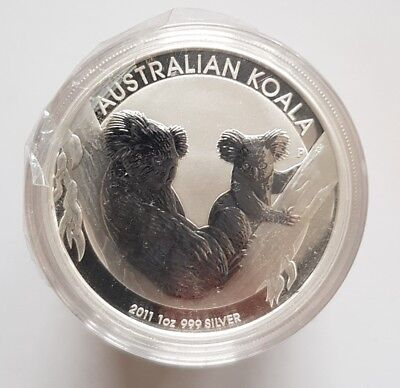 10 x 1oz Silver Koala 2011. Sealed roll of 10