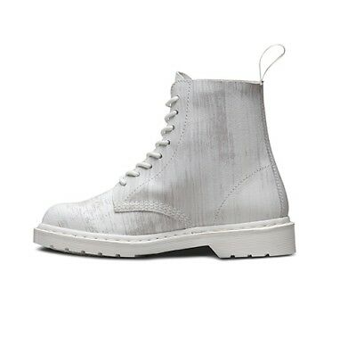 Dr. Martens Pascal White + White  Painter  Leather  Boots Size Uk 5