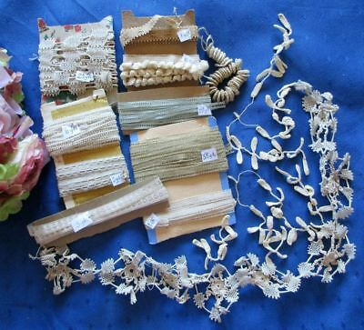 Antique Lot Of Tape Laces~Rings~Embellishments Suitable For Lace Making