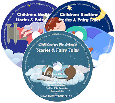 Childrens Bedtime Stories X3 CD - Classic Stories & Fairy Tales - Helps Sleep