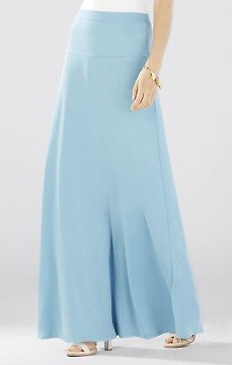NWT BCBGMAXAZRIA Jaymee Wide Banded A-Line Skirt,Vintage Blue Breeze size XS, M