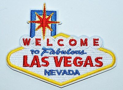 Welcome to Fabulous Las Vegas Embroidered Iron on or sew on Patch Applique