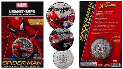 2017 Marvel Light Up Coin Spider-Man - Clearance