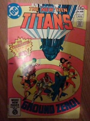 New Teen Titans Vol 1 #10 (1981) 2nd Deathstroke Appearance VF+ Combined P&P